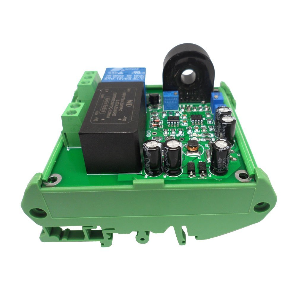 Homyl Adjustable AC Current Detection Sensor AC Module 220V Linear AC0-20A + Base - as Picture Show, with Base
