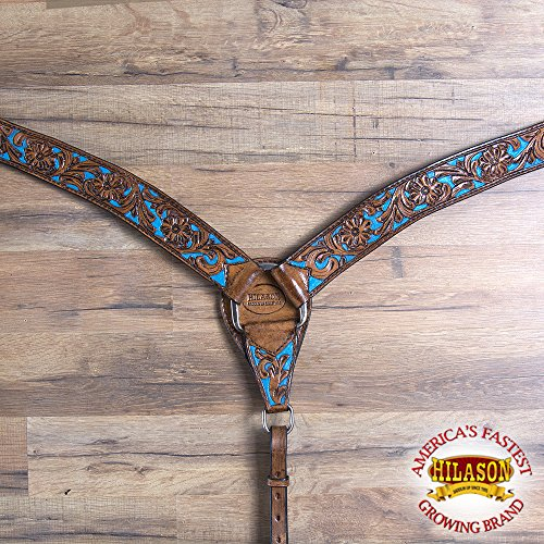 HILASON Western Horse Breast Collar American Leather Antique Mahogany