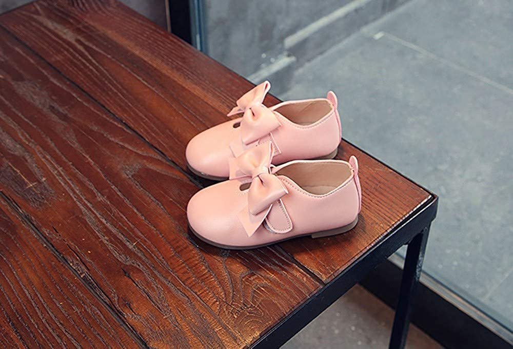 Lurryly❤Toddler Girls Shoes,Baby Girls Leather Bowknot Soft Sole Winter Single Shoes 1-6 T