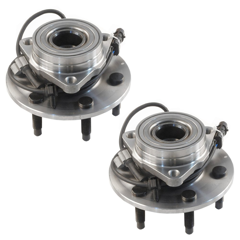 DRIVESTAR 4WD Only 515036x2 Pair New Front Wheel Hubs & Bearings Chevy GMC Truck 4x4 AWD w/ABS