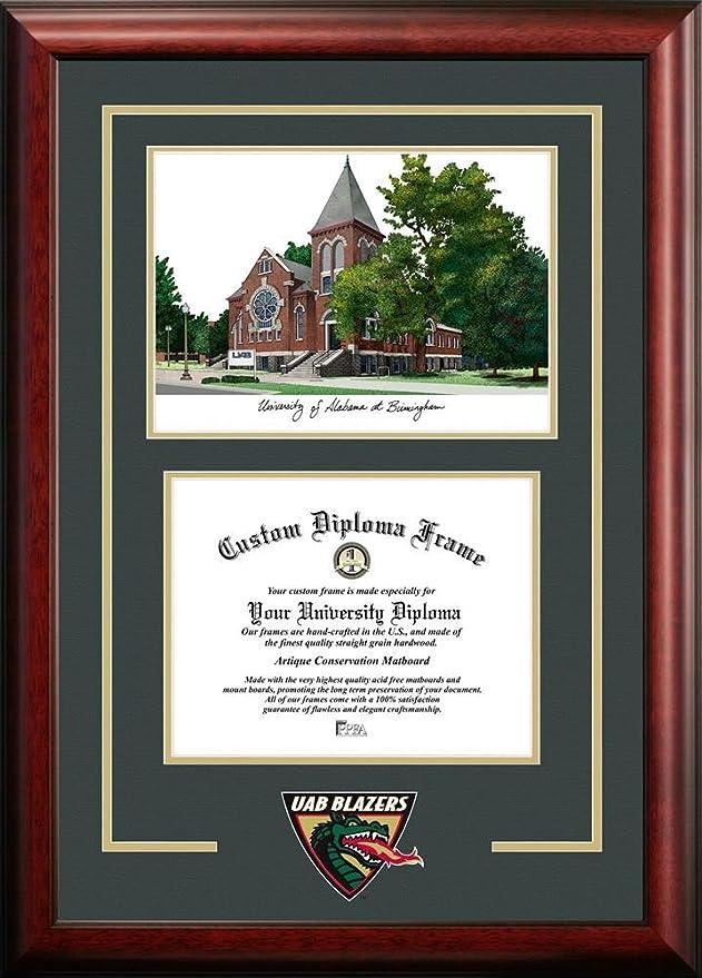 Amazon.com : UAB Blazers Alumni Mahogany Diploma Frame : Sports Fan ...