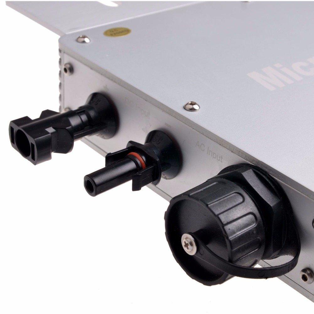 Y /& H 600/W MPPT /étanche Grid Tie Inverter DC22 50/V vers AC230/V Panneau circulaire pour 36/V Panneau solaire Wgti-600/W-230/V