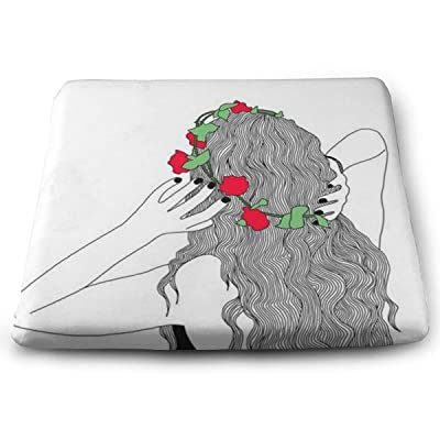 Sanghing Customized Girl Wearing A Wreath 1.18 X 15 X 13.7 in Cushion, Suitable for Home Office Dining Chair Cushion, Indoor and Outdoor Cushion.: Home & Kitchen