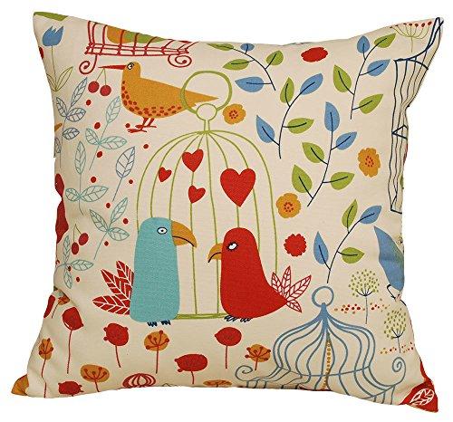 TangDepot 100% cotton nature theme Throw pillow covers, Cush