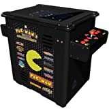 Namco Pac Mans Arcade Party Cocktail Game with Black Cabinet, Authentic Joystick and Controls and 19-Inch Color Monitor