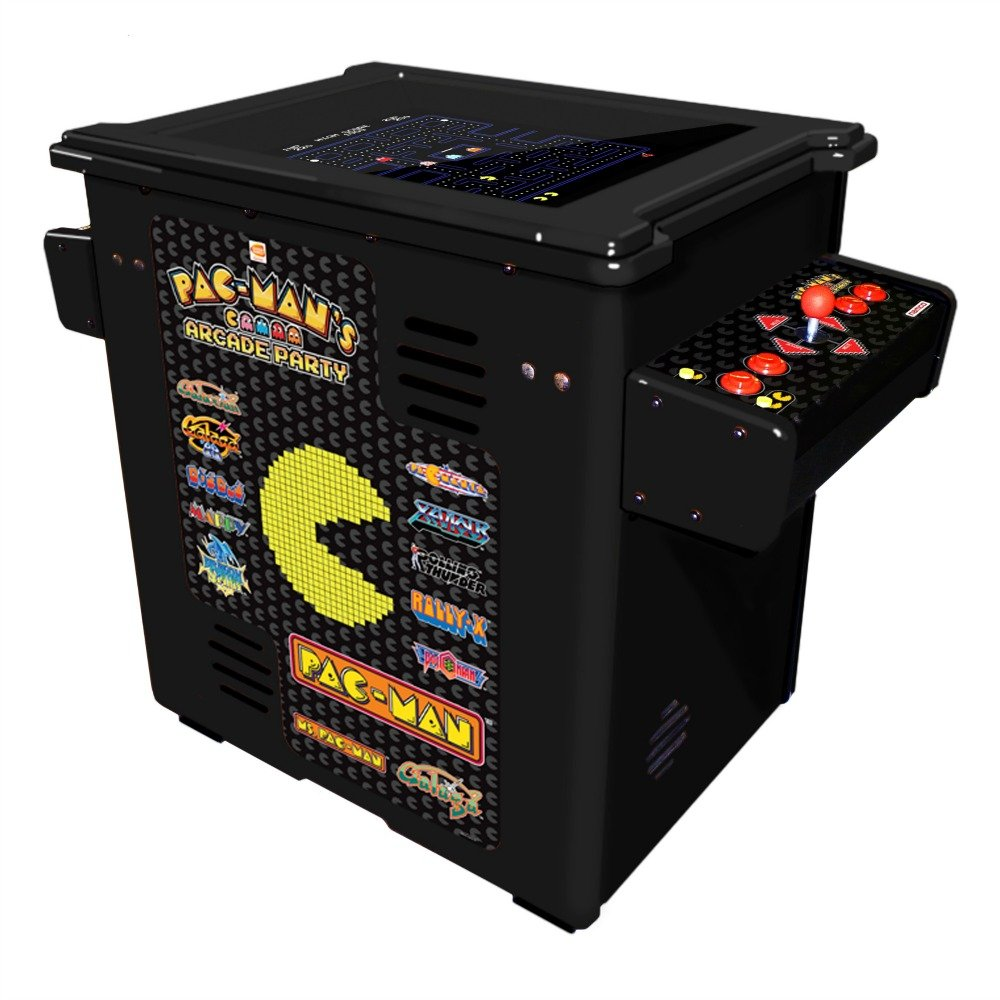 Amazon.com : Namco Pac Mans Arcade Party Cocktail Game With Black Cabinet,  Authentic Joystick And Controls And 19 Inch Color Monitor : Sports U0026  Outdoors