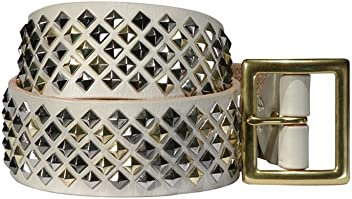 Leather Belt in Bone