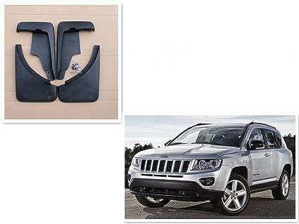 Black Mud Flaps Splash Fender Guards Quality 4PCS For Jeep Compass 2011-2016
