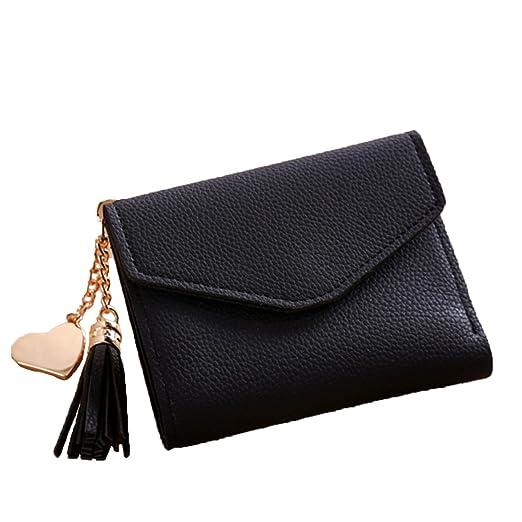 71e8065bd77 Amazon.com: Women Mini Tassel Wallet Card Holder Clutch Coin Purse ...