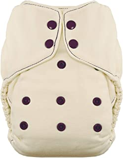 product image for Thirsties Snap Natural One Size Bamboo Fitted Cloth Diaper, Plum