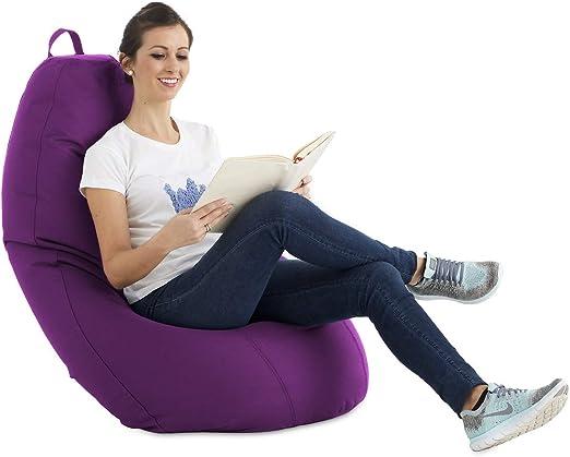 textil-home Puf - Puff Pera XL moldeable - 75x75x120 cm- Color Malva. Tejido PVC Alta Resistencia - Doble repunte - (Incluye Relleno Bolas Poliestireno).: Amazon.es: Hogar