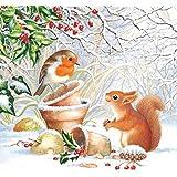 Ambiente tovaglioli di Natale 33cm foto inverno tovaglioli Squirell & Robin