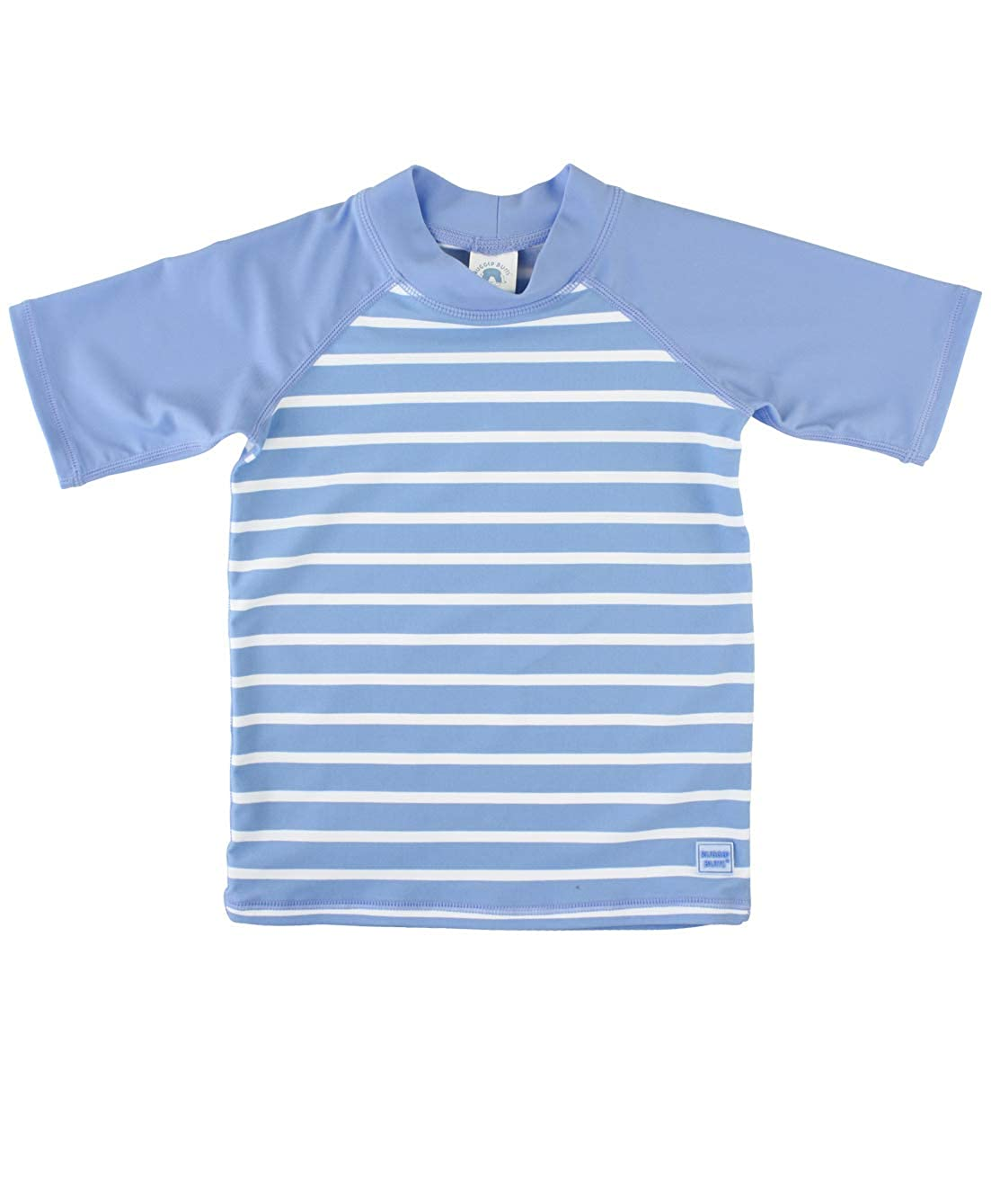 f9d85cf45 Amazon.com: RuggedButts Baby/Toddler Boys Short Sleeve Striped Rash Guard  Swim Shirt with UPF 50+ Sun Protection: Clothing