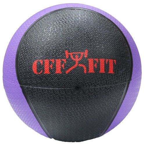 CFF Deluxe Rubber Medicine Ball, 4-Pound