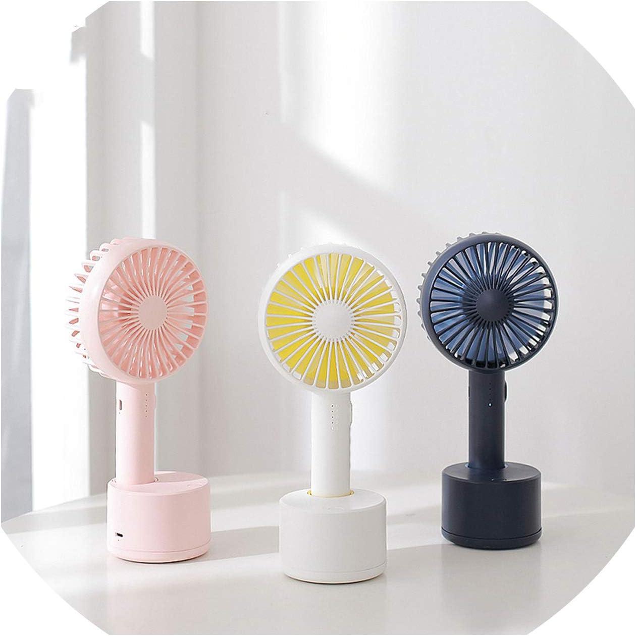 USB Fan 3 Speed Adjustable Portable Mini Fan Hand Fans Rechargeable USB Charging Mini Handheld Fan,Blue