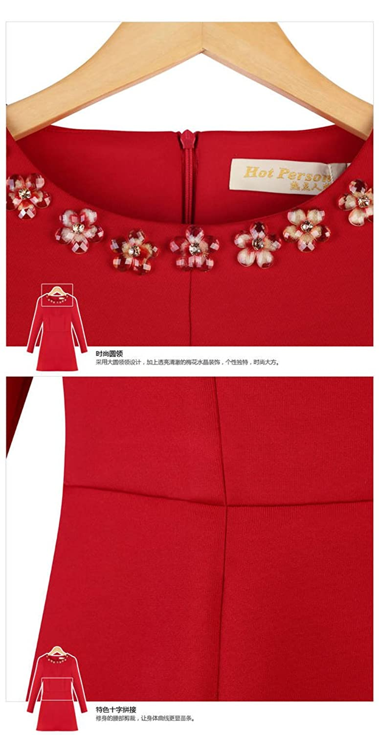 2014 new spring women's long-sleeved dress was thin high-end fashion bottoming dress