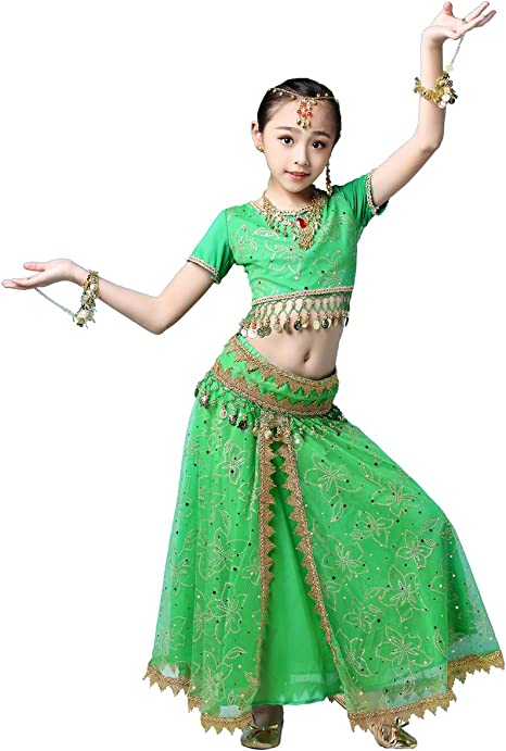 Grouptap Bollywood Lehenga Choli niñas Indias Anarkali Saree ...