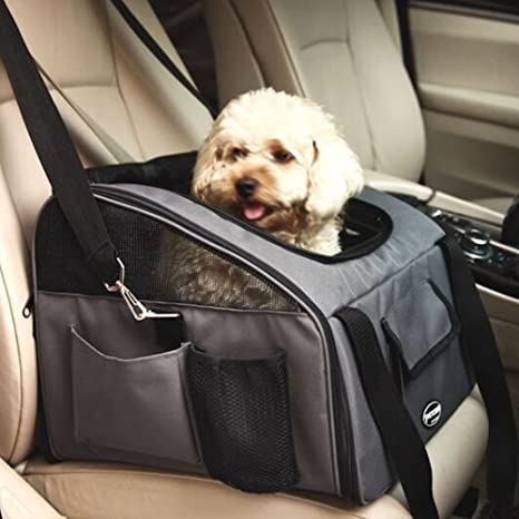 Amazon.com : Pettom Pet Car Seat Carrier Airline Approved Dog Cat ...
