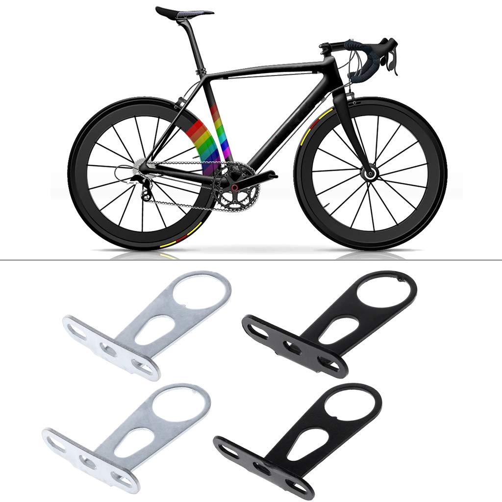 NA Bicycle Bracket Stainless Steel Front Rear Lamp Support Basket Holder Mount