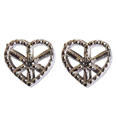0ec77c0d9a6369 真珠の杜 ダイヤモンド K18ホワイトゴールド スタッド プチ かわいい ハートモチーフ diamond ダイヤ heart ピアス