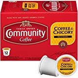 Community Coffee and Chicory Medium Dark Roast Single Serve 36 Ct Box, Compatible with Keurig 2.0 K Cup Brewers,  Full Body Rich Flavorful Taste, 100% Arabica Beans