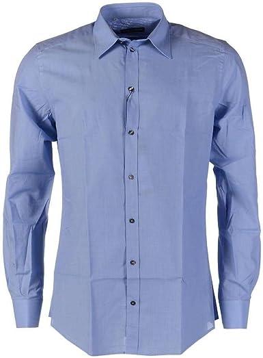 Dolce & Gabbana Camisa Azul Algodón de manga larga – ZA: Amazon.es: Ropa y accesorios