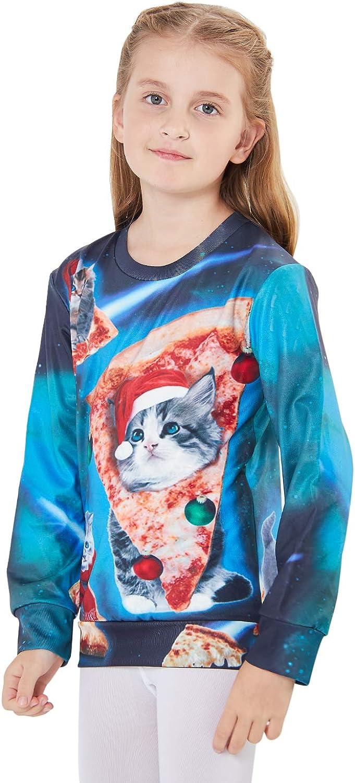 ALISISTER Kinder 3D H/ässliche Weihnachtspullover Sweatshirt Gedruckte Neuheit Junge M/ädchen Pullover Weihnachts Jumper