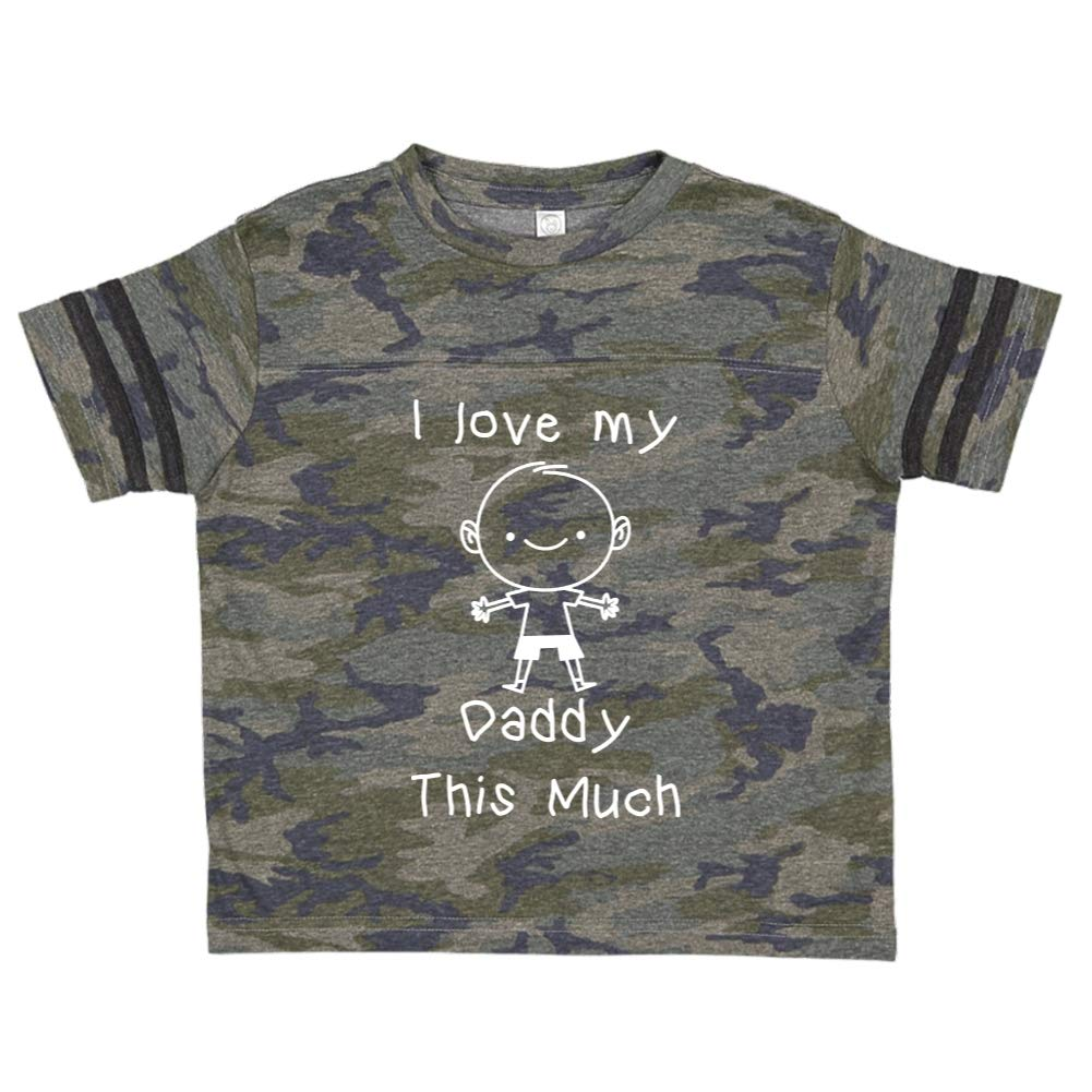 Personalized Name Toddler//Kids Sporty T-Shirt Little Boy I Love My Daddy This Much