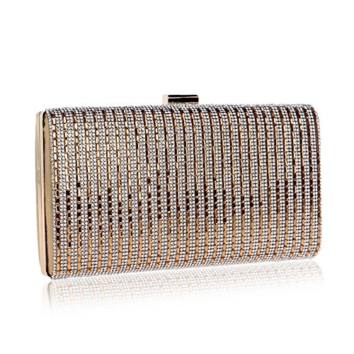 Diamond evening encrusted Color bag Fly European Bag Evening Gold Banquet Hand held Bag Silver And Evening Ladies 4pwqdw7