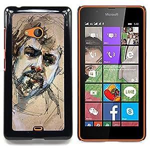 """Planetar ( Leopardo rosado de la impresión del modelo de piel"""" ) Nokia Lumia 540 Fundas Cover Cubre Hard Case Cover"""