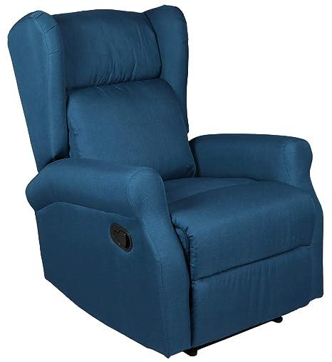 Blu Relax Poltrone.Ws Design Poltrona Relax Tessuto Moderno Casa Reclinabile