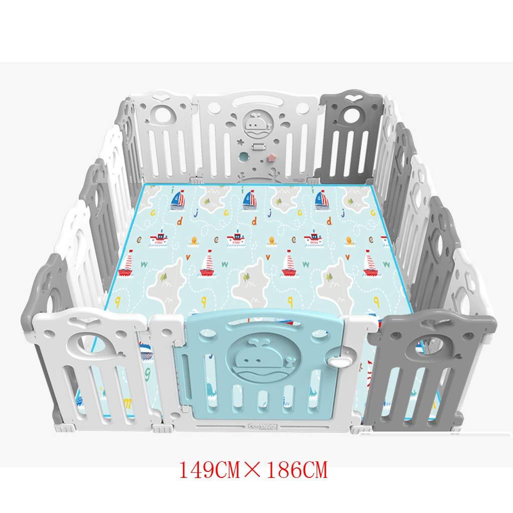 子供の遊びのフェンス屋内の赤ちゃんのフェンスのフェンスの赤ちゃんのクロールマットホーム安全な遊び場幼児の人工物 SHWSM (Size : 149CM×186CM) 149CM×186CM  B07TB7D9M6