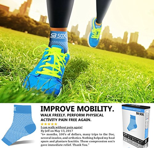 169666e664 ... SB SOX Compression Foot Sleeves for Men & Women - Best Plantar  Fasciitis Socks for Plantar ...
