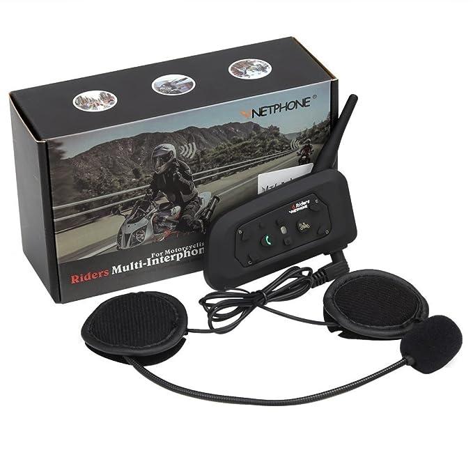 Amazon.com: Intercomunicador Bluetooth de motocicleta ...