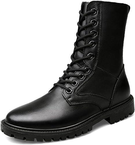 Nouveau Combat Bottes Armée taille 44 Homme Bottes en cuir noir travail Chaussure