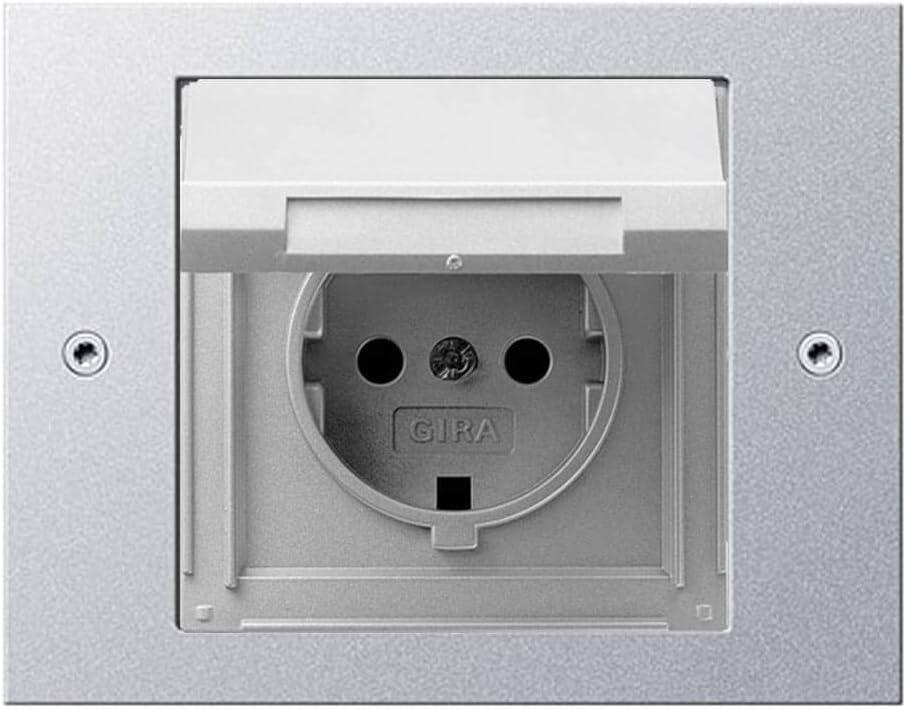 Gira Steckdose Klappdeckel TX/_44 Beschriftungsfeld Rahmen reinweiß IP44