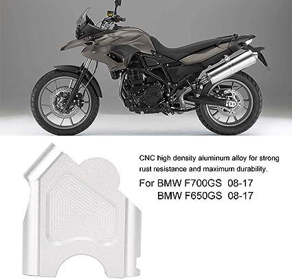 Akozon Morsetto manubrio 2PCS Morsetto manubrio moto Supporto per riser per manubrio per F700GS 2008-2017 F650GS 2008-2017 Argento
