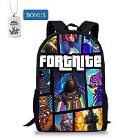 Mochila Fortnite Escuela Bolsas, Student Backpack College Bookbag Mochila de Viaje Daypack Mochila Informal para Chicas Adolescentes Niños y Mujeres