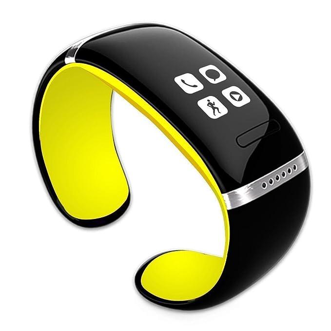 L12S Pulsera Inteligente Bluetooth reloj de pulsera reloj Digital OLED MP3 para iOS iPhone Samsung HTC
