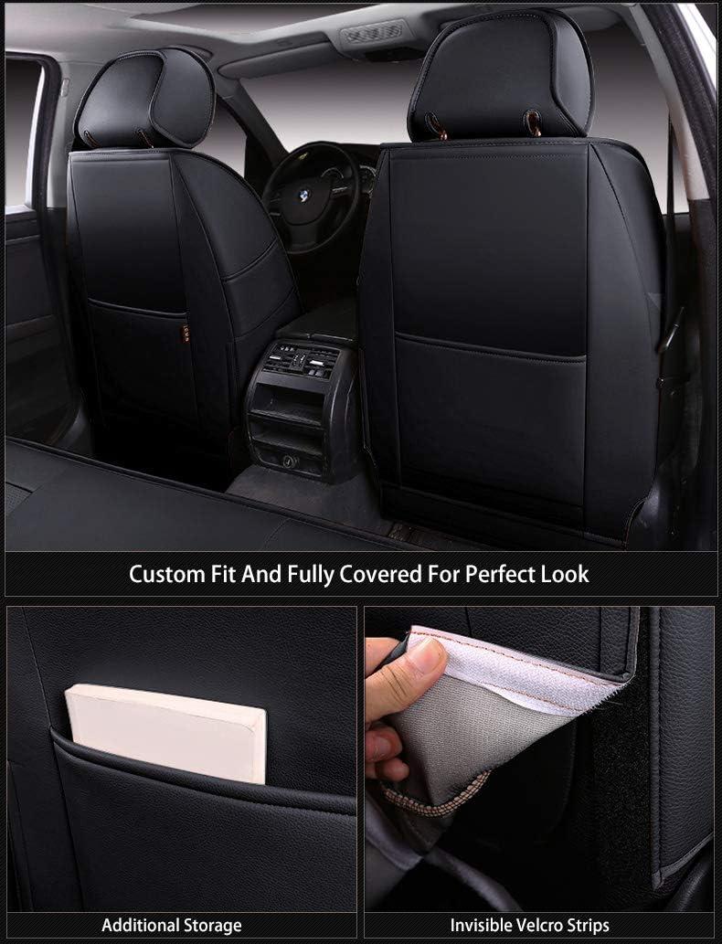 2003-2006 Wrangler 2DR, Black OASIS AUTO Wrangler TJ 2003 2004 2005 2006 Custom Exact Fit PU Leather Seat Covers Accessories Full Set