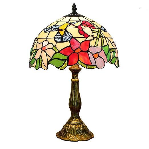 Lámpara De Mesa Estilo Tiffany Mesa De Lectura De Arte De Cabecera ...
