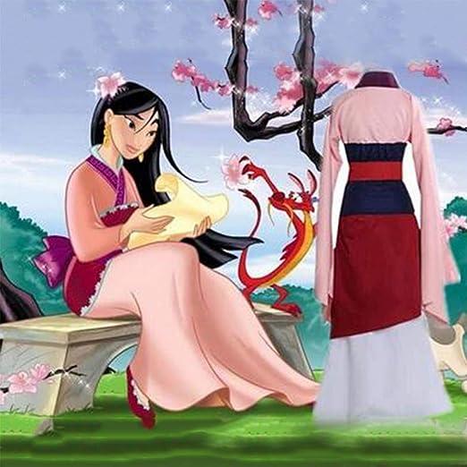 GGOODD Princesas De Disney Heroína China Hua Mulan Hanfu Cosplay ...