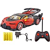 MWT Toyz Bugatti Style Remote Control Car with Openable Doors, Dickey and Rechargable Batteries (Red)