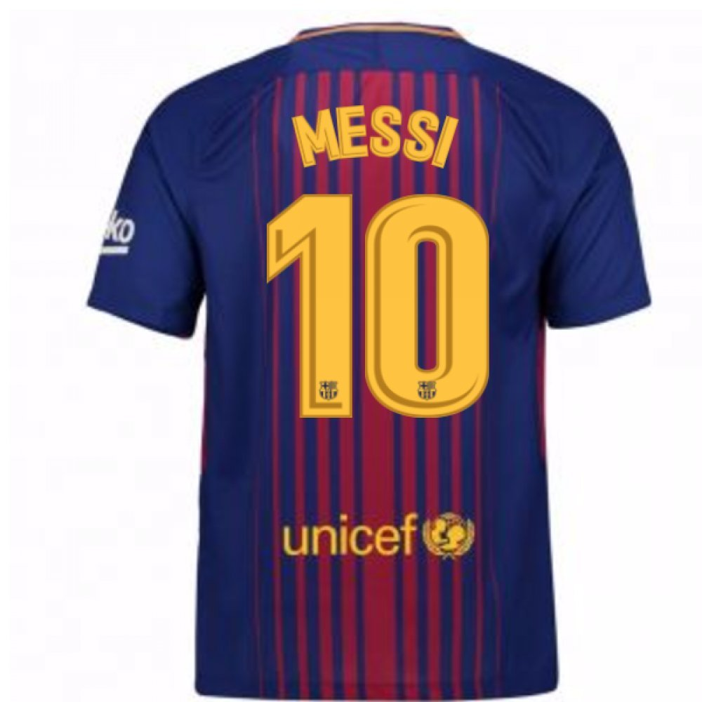 2017-2018 Barcelona Home Shirt (Messi 10) Kids B077YL9M8K MB 27-29