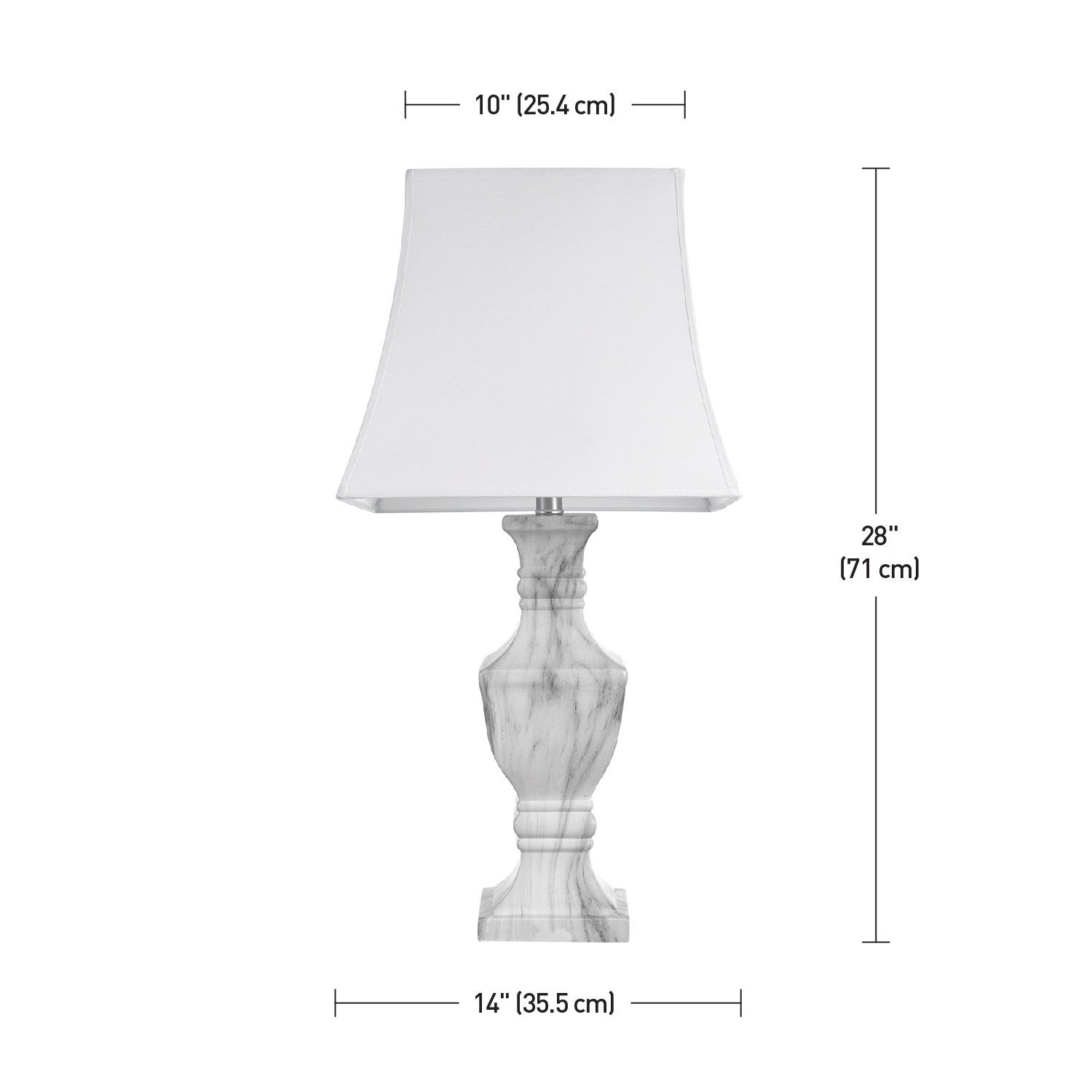 Amazon.com: Globe Electric 12751 Marble Finish Table Lamp: Home Improvement