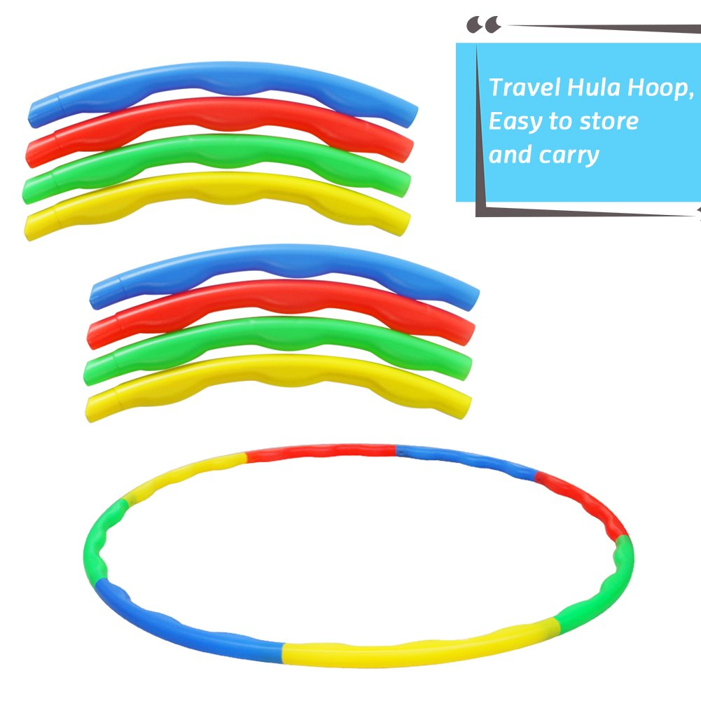 Akokie Hula Hoop Kids, Hoop Kit Game, Outdoor Toys Garden Ring Dia 75 CM Play for Girls Boys 3 4 5 6 Years Old