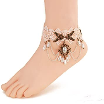ankle on bracelets delicate beaded jewelry ourserendipitystones anklet by stirling female bracelet vickiegorse pinterest anklets feminine best feet images