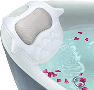 Sweepstakes: Luxury Non-Slip Spa Bath Pillow For Tub with 5D Air Mesh...