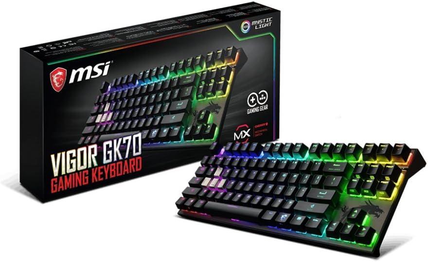 MSI Vigor Cherry MX RGB Dedicated Hotkeys Mechanical Gaming Keyboard (VIGOR GK70 CR US)