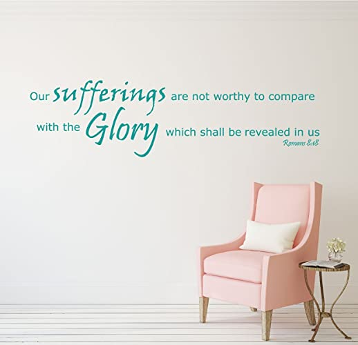 Amazon.com: Romans 8:18 - Bible Verse Wall Decals - Our Suffering ...